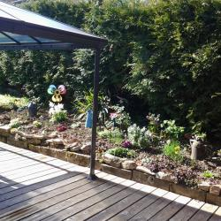 Bordures de plantes aromatiques  et fleurs